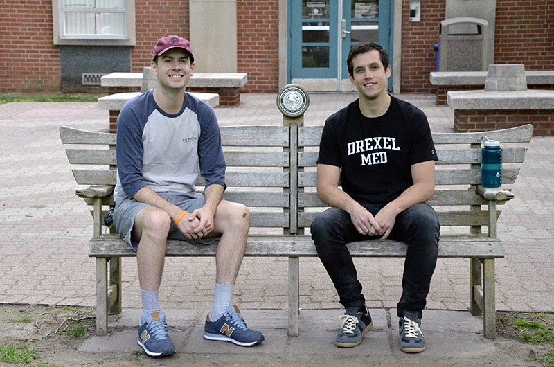 John McCormick and Ryan Rothman on Drexel's Queen Lane campus