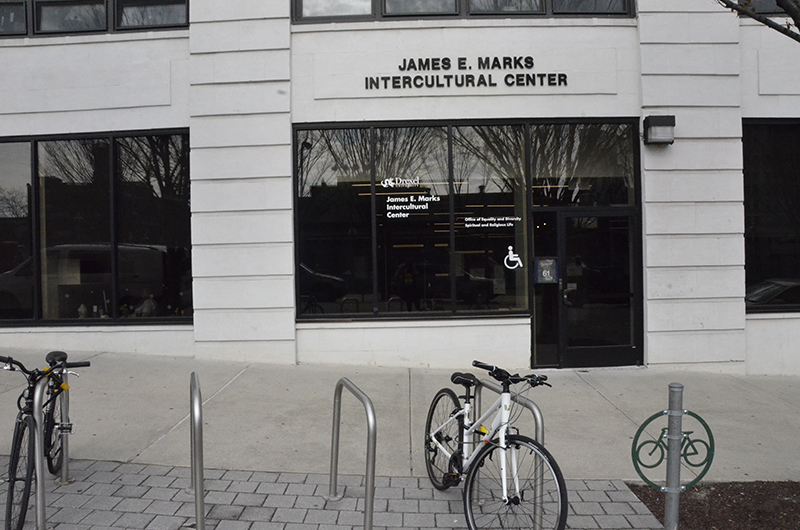 The exterior of the James E. Marks Intercultural Center.