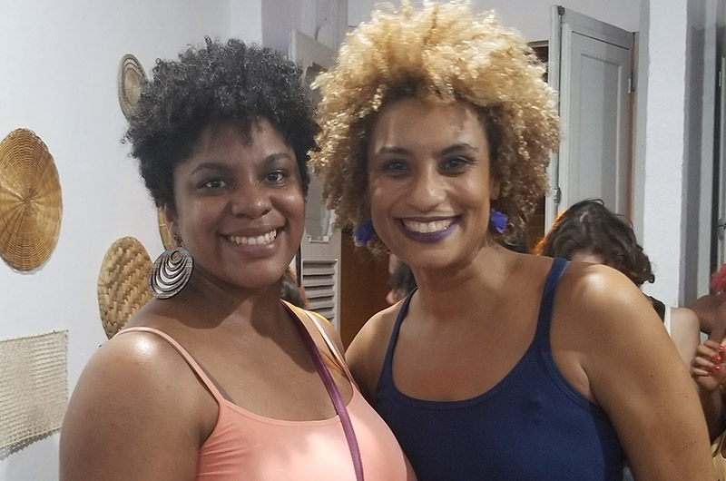 Sharrelle Barber with activist Marielle Franco.