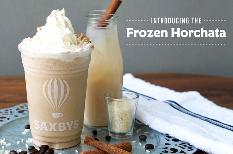 The new Frozen Horchata from Saxbys was created for Drexel's Class of 2018 and will be available at the two Saxbys locations on the University City Campus. Photo courtesy Saxbys.
