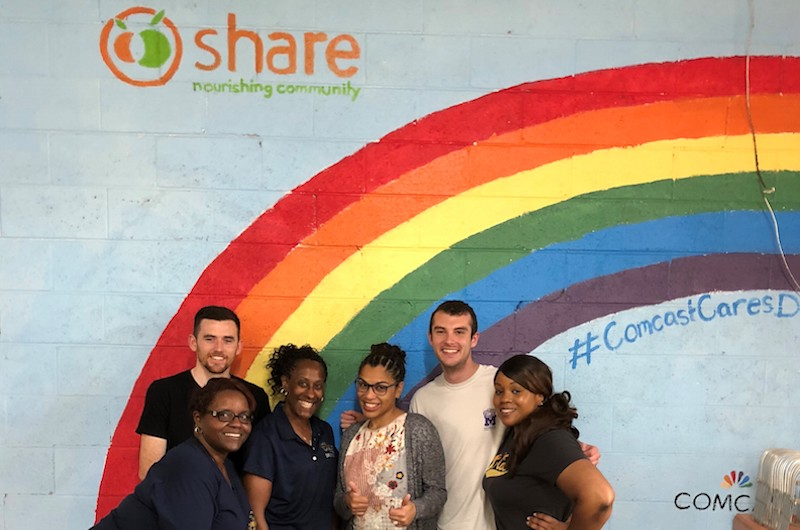 These Drexel Dragons volunteered at Share earlier this year.