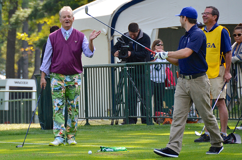 Bill Murray at the 2012 Ryder Cup. Photo credit: Brent Flanders.