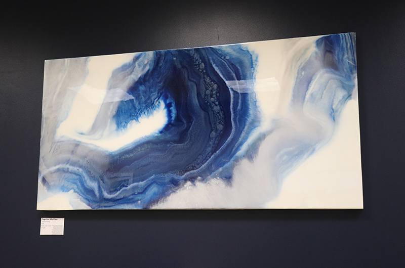"""Together We Flow"" by Lindsey Browning, an adjunct assistant professor of dance in the Westphal College of Media Arts & Design. Abstract art using resin, acrylic and wood."