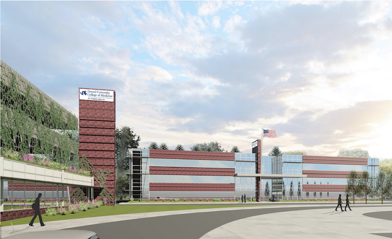 A rendering of the Drexel College of Medicine branch campus that will be built in West Reading through an agreement with Tower Health.