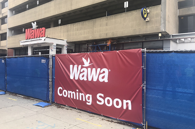 The exterior of the new Wawa location at Drexel University as photographed on Sept. 14.