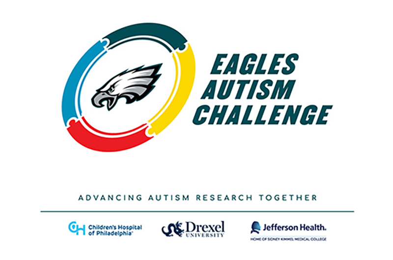 Eagles Autism Challenge logo including Drexel University