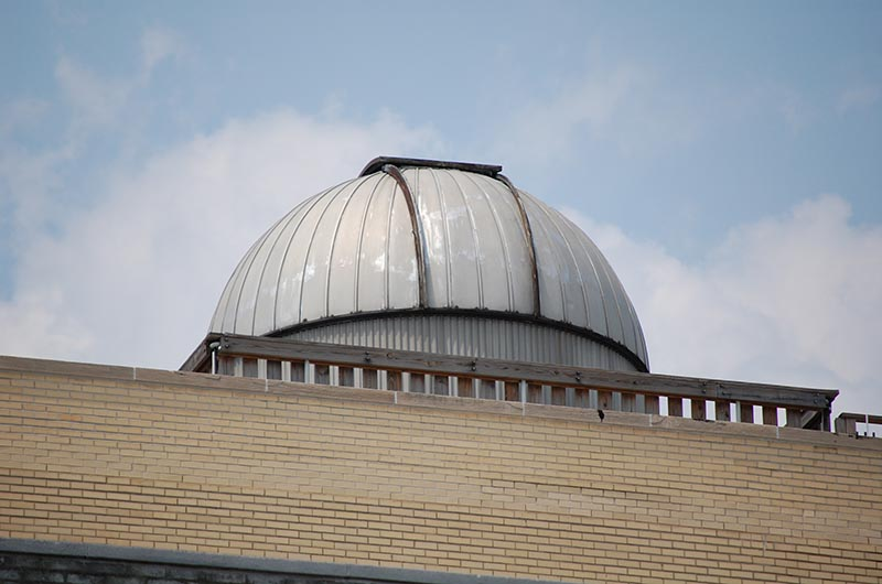 The dome of the Joseph R. Lynch observatory.