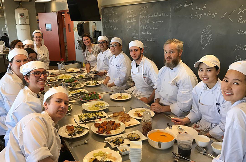 "Students in Drexel's ""Kitchen Garden"" class. Photo courtesy of the Drexel Food and Hospitality Management Facebook page."