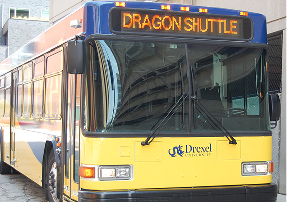 Drexel shuttles will transport you to and from our Philadelphia campuses.