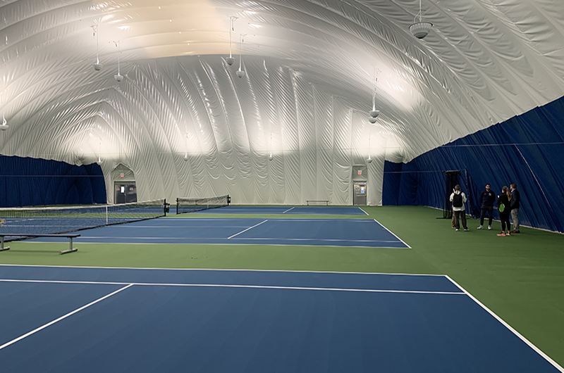 The tennis courts inside of the Vidas Bubble. Photo credit: Drexel Athletics.