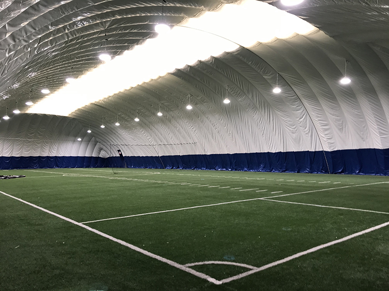 The turf field inside of the Buckley Bubble. Photo credit: Drexel Athletics.