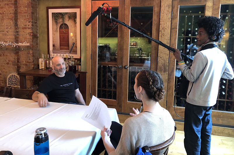 Kat Brandel interviewed Marc Vetri '90, a local chef and philanthropist, for an interview for her KatsKrave blog. Photo credit Kris Tookes.