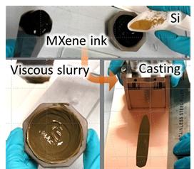 MXene-silicon anode