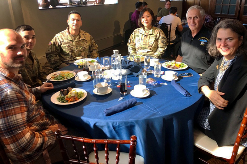 The Center for Food & Hospitality Management along with the Office of Veteran Student Services held a Veteran's Lunch in the Academic Bistro in November 2018.