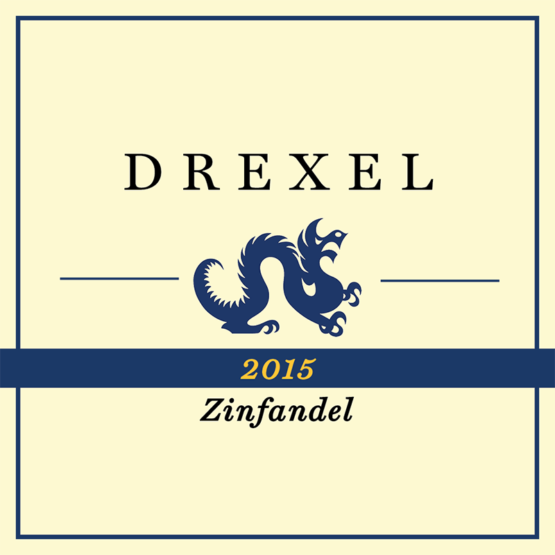 The logo of the Drexel wine produced by Thomas DeChiaro.