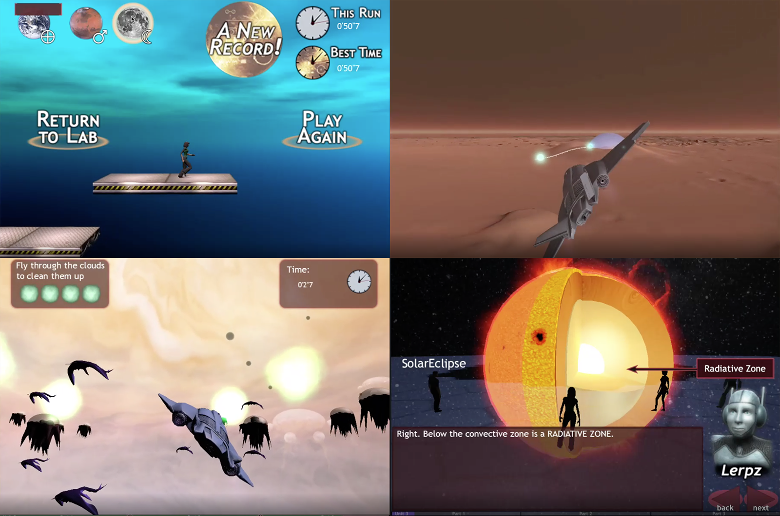 The Astroventure was created by two game developers trained in astronomy and two professors of astronomy at Penn State. It is an introductory astronomy course as a video game.