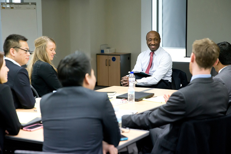 Merck CEO and Chairman Ken Frazier and his employees.