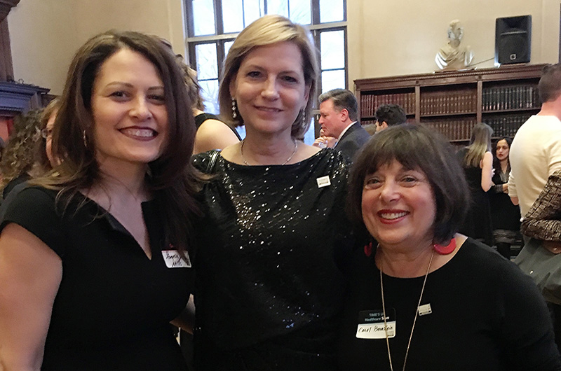 From left to right: Angela M. Mills, MD, current ELAM Fellow; Nancy D. Spector, MD, executive director of ELAM and an alumna of the program; and Carol A. Bernstein, MD, ELAM alumna.