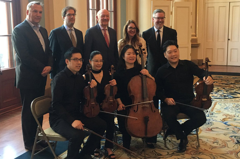 Leaders from Penn Medicine, Drexel University, The Kimmel Center for the Performing Arts, Philadelphia Museum of Art, Philadelphia Orchestra at an event announcing the Philadelphia Cultural Pass Program