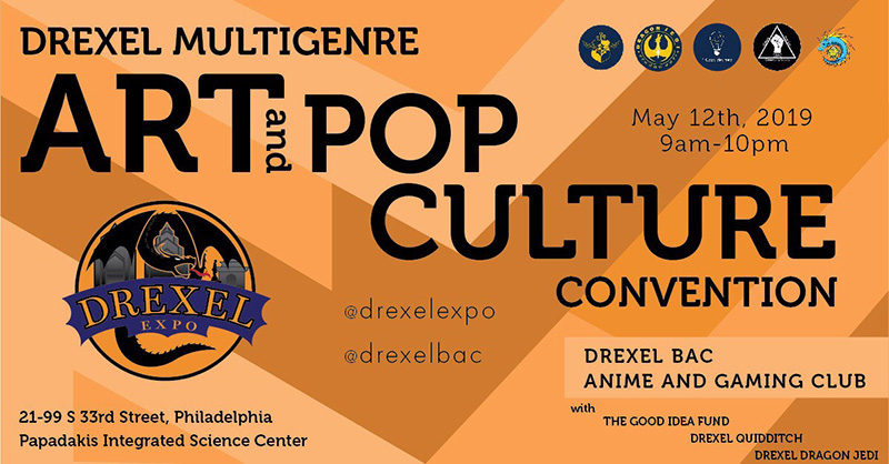 Drexel Expo aims to bring together fandom, geek and art-culture lovers for a daylong event on May 12 in the Papadakis Integrated Science Building.