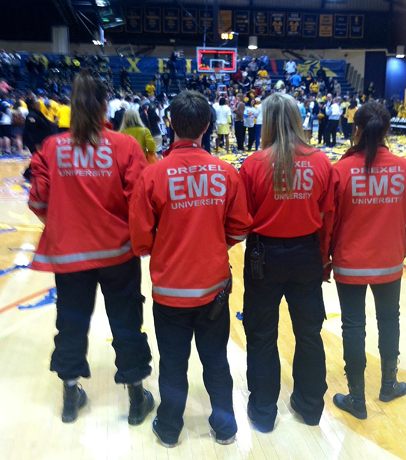 Drexel EMS provides standby emergency medical services for Drexel events such as basketball games.