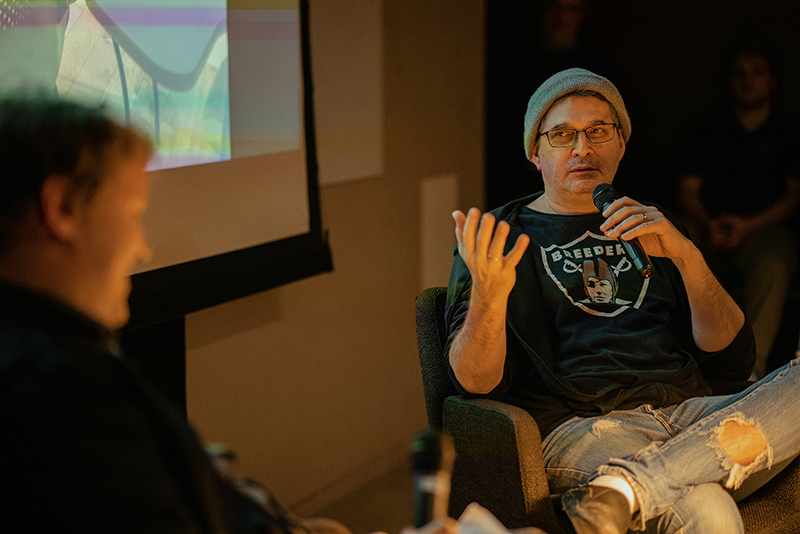 Steve Albini, a legendary Chicago-based musician and audio engineer, kicked off the Drexel University Music Industry Program's new Visiting Lecture Series on Nov. 14.