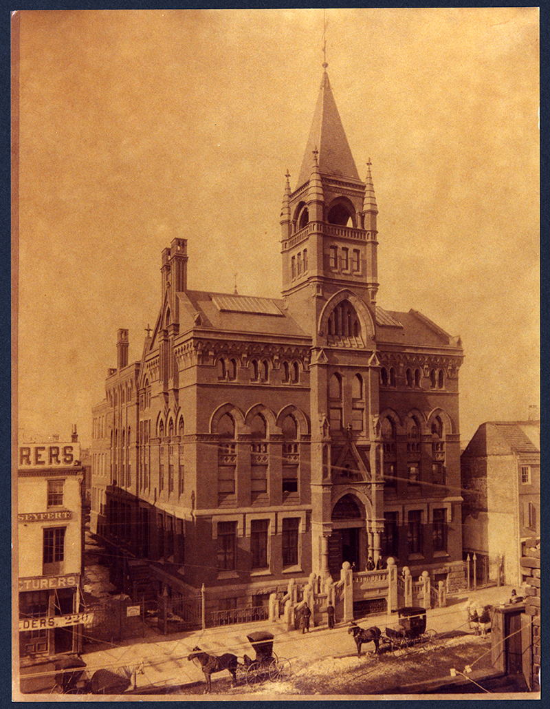 Hahnemann Medical College on North Broad Street circa 1886. Photo courtesy Legacy Center Archives, Drexel College of Medicine.