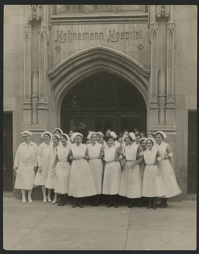Nurses at 230 N. Broad St. in the 1930s. Photo courtesy Legacy Center Archives, Drexel College of Medicine.