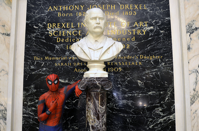 'It motivates me to work harder and do my best to keep a positive mentality and spread positive vibes as much as I can to the community, which is what inspires Drexel Spidey,' he said.