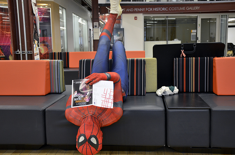 Drexel Spidey spends a lot of time in the URBN Center as a third-year Westphal student.