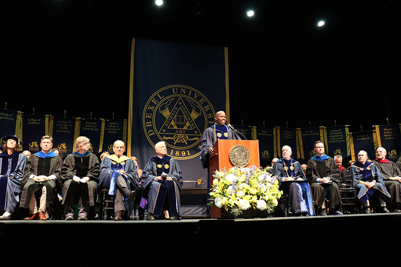 Nina Henderson Provost and Executive Vice President for Academic Affairs M. Brian Blake, PhD, spoke at Drexel University's 2019 Convocation.