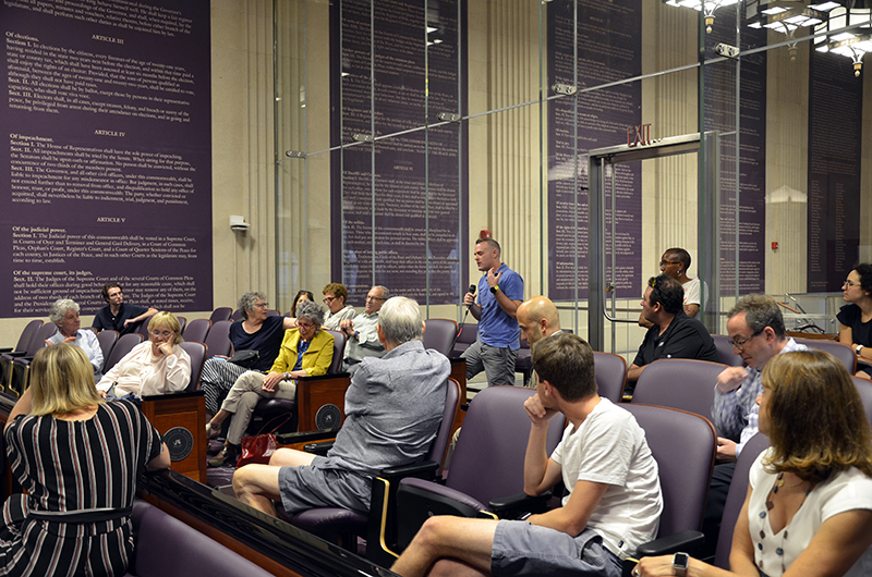 Wednesdays at the Kline are now hosted weekly at the Kline Institute of Trial Advocacy in Center City in order for members of the Philadelphia community to gather, listen and exchange ideas and perspectives regarding current events and issues.
