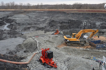 coal ash in landfill