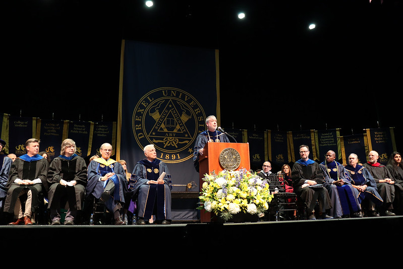 Drexel University President John Fry at Convocation 2019.
