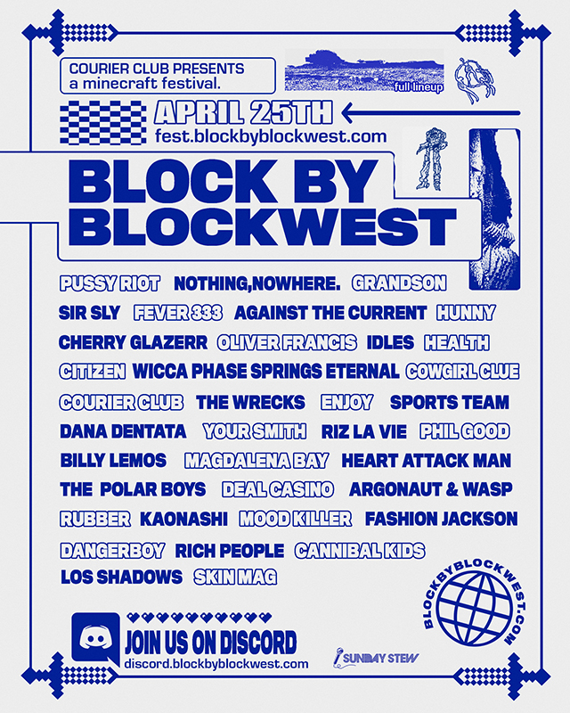 Block by Blockwest music festival starting at 3 p.m. EST on April 25 is set to host nearly 40 bands and thousands of virtual spectators, as well as donate most of its proceeds to the Center for Disease Control's COVID-19 emergency response fund.