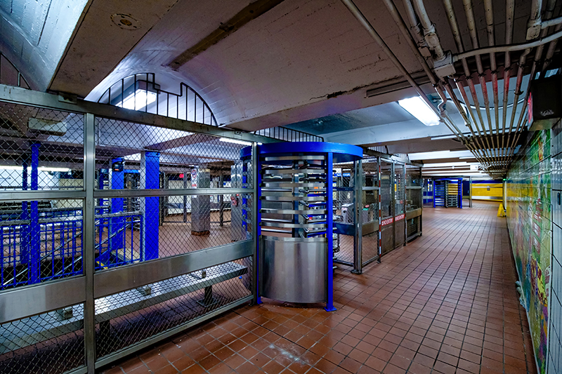 SEPTA's 34th Street Station was completely empty.