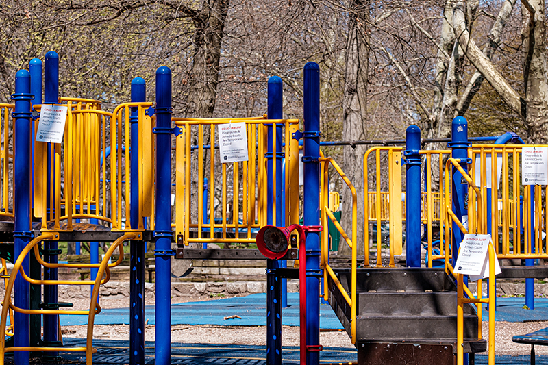 The playground at Clark Park.