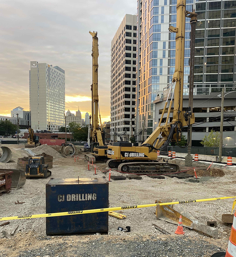 The Drexel Academic Tower site. Photo courtesy Wexford and Turner Construction.