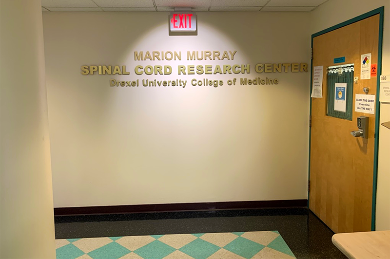 The Spinal Cord Research Center of Drexel University College of Medicine was named in memory of Professor Marion Murray, PhD (1937-2018), the founder and director of the Center. Photo courtesy Itzhak Fischer, PhD.