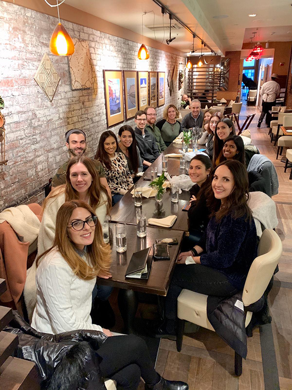 A lab outing in Philadelphia in January with DUniBo participants and Drexel faculty and staff. Photo courtesy Olimpia Meucci.