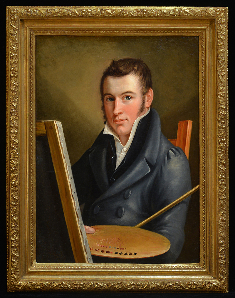 """Self-Portrait"" by Francis Martin Drexel. Oil on canvas, 1817. It's believed to have been painted in Dornbirn and brought with 25-year-old Francis Martin that year to America. Today, this painting can be found at Drexel University. Photo courtesy The Drexel Collection."
