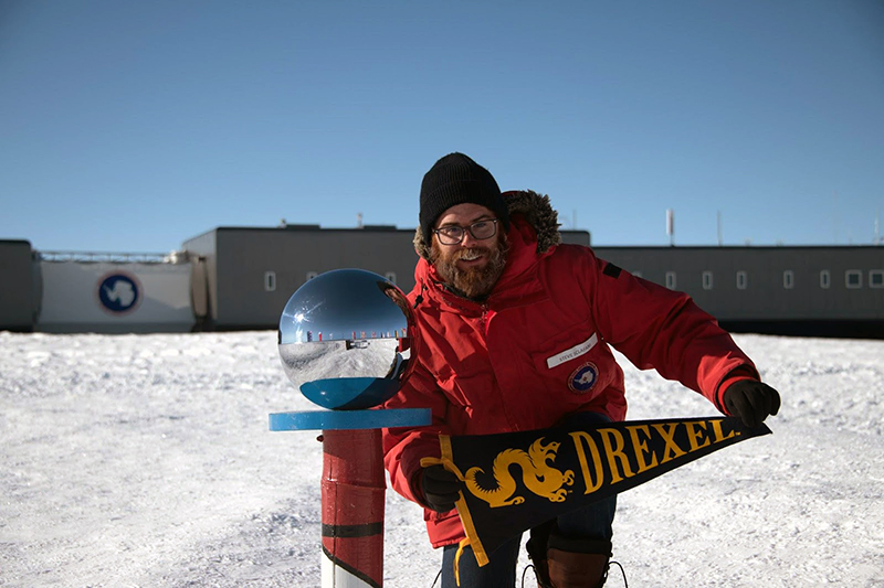 Steve Sclafani, a Drexel doctoral student in physics, headed to the IceCube South Pole Neutrino Observatory as a member of the Drexel IceCube Research group, and subsequently the larger IceCube Collaboration. The collaboration includes more than 300 people from 52 institutions (including Drexel) across 12 countries who helped to build, test and continue to maintain the detector.