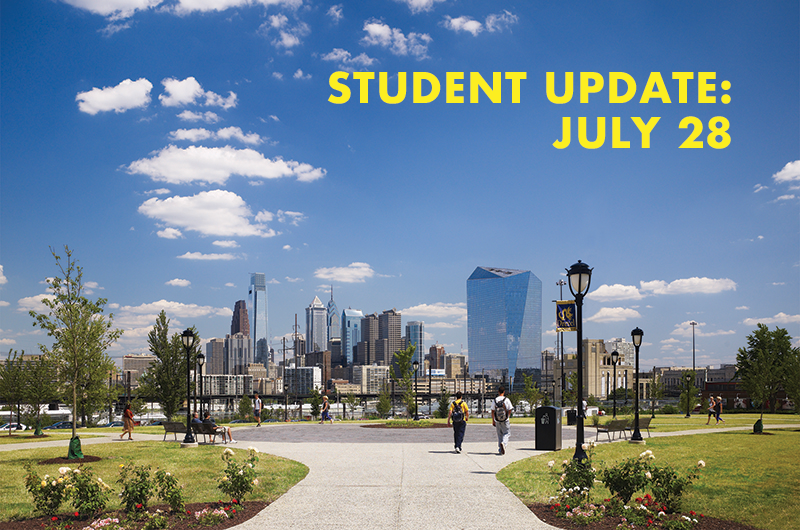 In a message to Drexel students on July 28, Senior Vice President for Student Success Subir Sahu outlines student guidelines for fall.