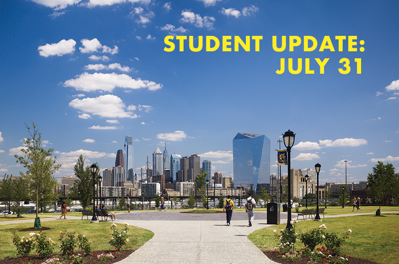 In a message to Drexel students on July 31, Senior Vice President for Student Success Subir Sahu provided more information on the mandatory COVID-19 Student Training course and the online Dragon Pledge.