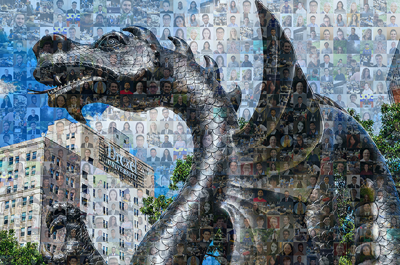 A mosaic created by the Drexel University College of Computing & Informatics featuring their 2020 graduates.