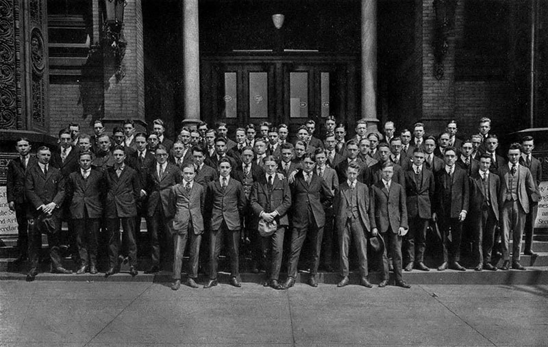 The 1922 engineering student class as shown in the 1919 yearbook. Photo courtesy of the Drexel University Archives.