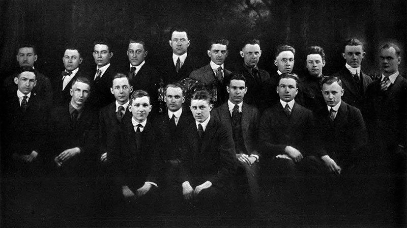The 1921 engineering student class as shown in the 1919 yearbook. Photo courtesy of the Drexel University Archives.