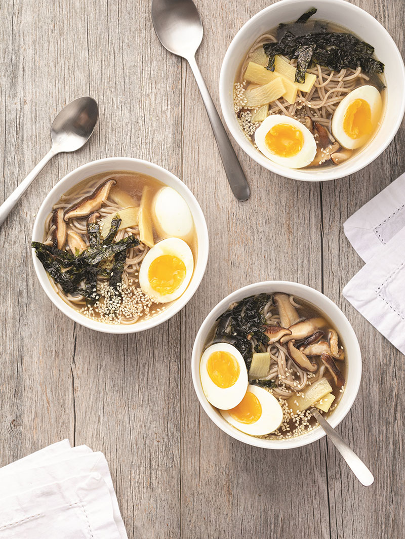 "Miso soba bowls from ""The Anti-Inflammatory Family Cookbook."" Photographs by Harper Point Photography."