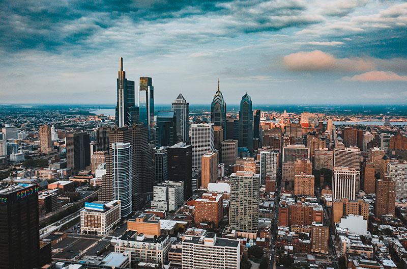 City of Philadelphia skyline.