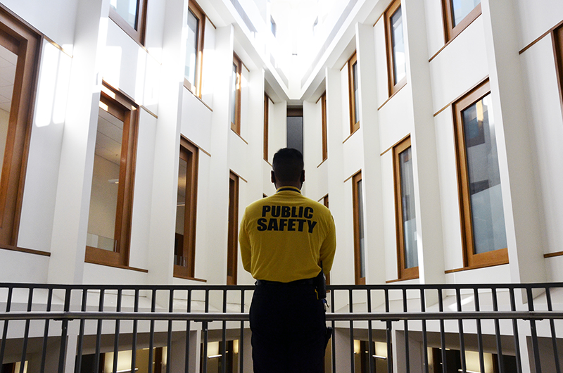 As a health ambassador for Drexel University, Raymond Sarem keeps vigilant over each of the nooks and crannies of the 11-story Gerri C. Lebow Hall, particularly on the four floors where classes take place.